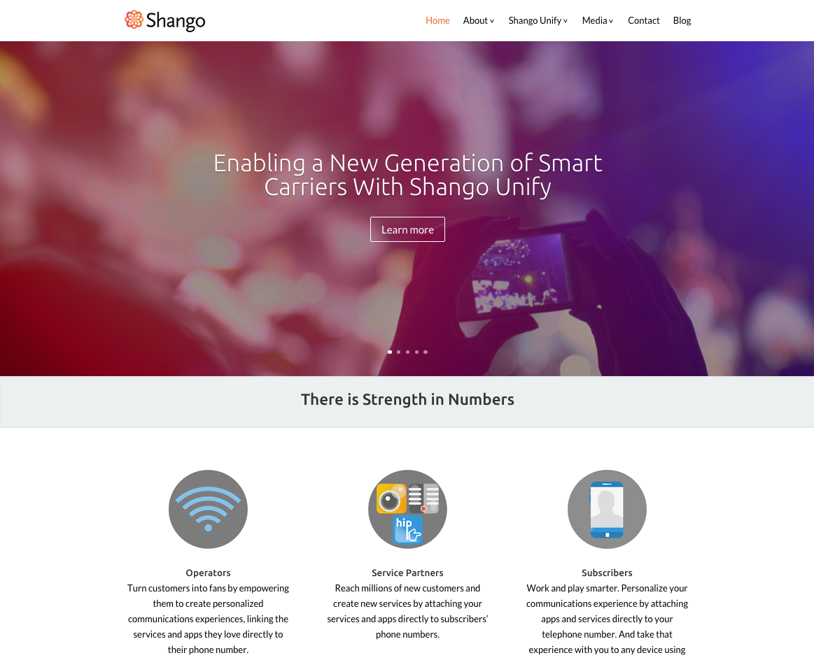 Shango Website Design & Development